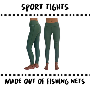 SPORTSWEAR - LEGGING - MADE OF UPCYCELD FISH NETS