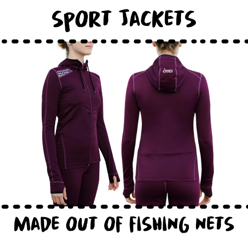 SPORTSWEAR - HOODIE - MADE OF UPCYCELD FISH NETS