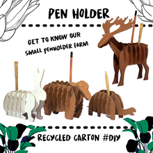 Load image into Gallery viewer, PEN HOLDER - 100% RECYCLED CARTON - Damn Plastic