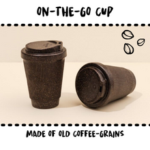 Lade das Bild in den Galerie-Viewer, CUP - ON THE GO #UPCYCLED COFFEE GRAINS - Damn Plastic