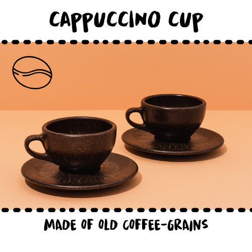 CUP - CAPPUCCINO #UPCYCLED COFFEE GRAINS - Damn Plastic