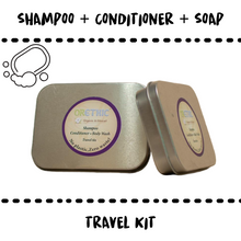 Load image into Gallery viewer, SHAMPOO + SOAP + CONDITIONER + BOX #TRAVEL - Damn Plastic