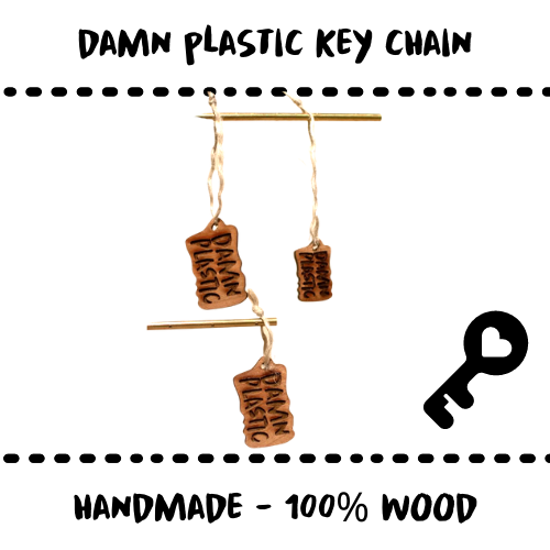 KEY CHAIN - OAK WOOD - Damn Plastic