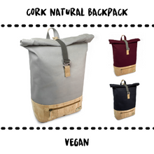 Load image into Gallery viewer, BACKPACK - CORK & VEGAN - Damn Plastic