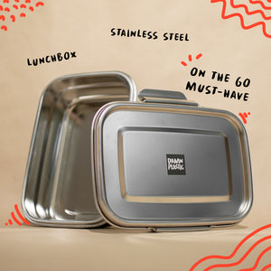 LUNCH BOX - STAINLESS STEEL - Damn Plastic