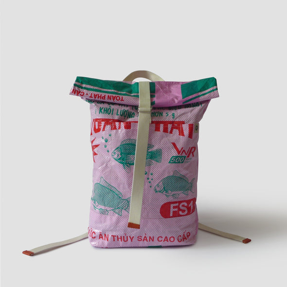 BACKPACK UPCYCLED #FISH-FOOD-BAGS