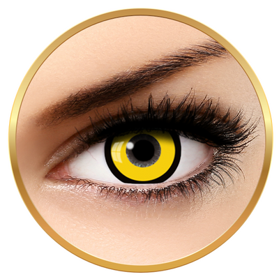 Auva Vision Fantaisie Manson Yellow - Yearly Contact Lenese for Halloween - 365 wears (2 lenses/box)