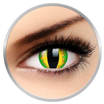 ColourVUE Crazy Green Dragon - Yellow Contact Lenses yearly - 360 wears (2 lenses/box)