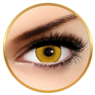 Solotica Solflex Colors Hype Amarela Yellow - Yellow Contact Lenses monthly - 30 wears (2 lenses/box)