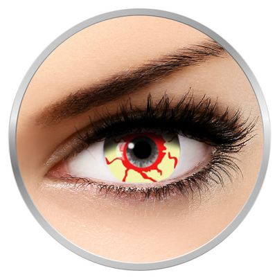 Auva Vision Fantaisie Mini Sclera Skull - Yearly Contact Lenese for Halloween - 365 wears (2 lenses/box)