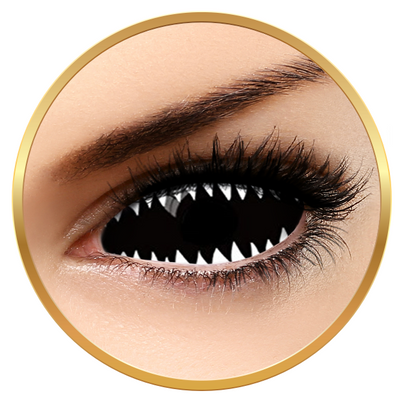 Auva Vision Fantaisie Sclera 019 - Yearly Contact Lenese for Halloween - 365 wears (2 lenses/box)