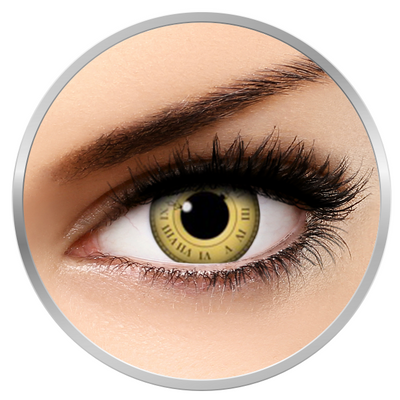 Auva Vision Fantaisie Time Keeper - Yearly Contact Lenese for Halloween - 365 wears (2 lenses/box)
