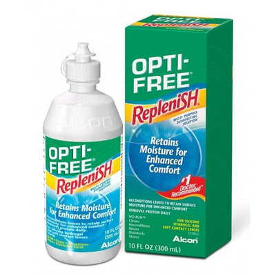 Alcon / Ciba Vision Contact Lenses Maintenance Solution Opti-Free RepleniSH 300 ml + gift contact lenses holder
