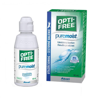 Alcon / Ciba Vision Contact Lenses Maintenance Solution Opti-Free Pure Moist 90 ml + gift contact lenses holder