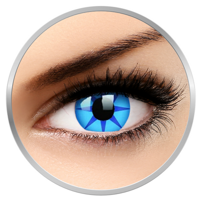 ColourVUE Crazy Blue Star - Blue Contact Lenses yearly - 360 wears (2 lenses/box)