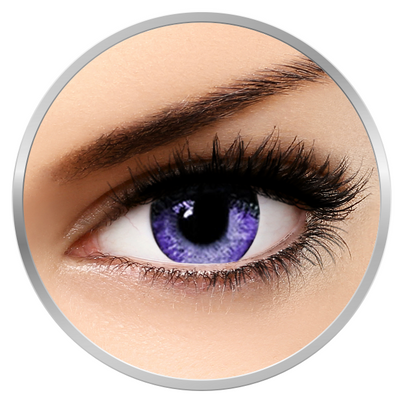 Soleko Queen's Solitaire Violet - Purple Contact Lenses quarterly - 90 wears (2 lenses/box)