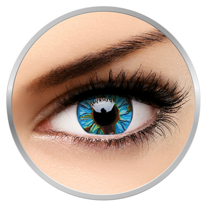 ColourVUE Crazy Blue Streak - Green/Blue Contact Lenses yearly - 360 wears (2 lenses/box)