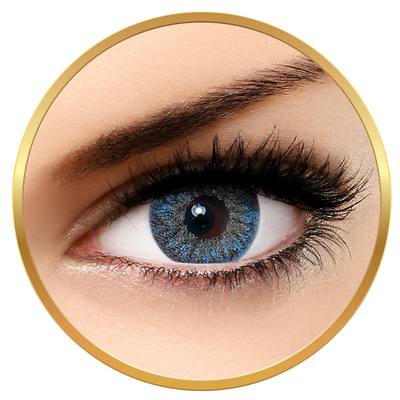 Bella Natural Looking Lenses Blue - Blue Contact Lenses Quarterly - 90 wears (2 lenses/box)