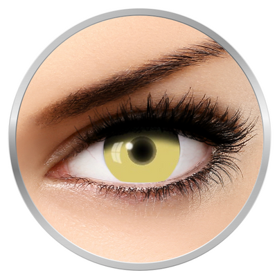 Auva Vision Fantaisie UV Glow Yellow - Yearly Contact Lenese for Halloween - 365 wears (2 lenses/box)