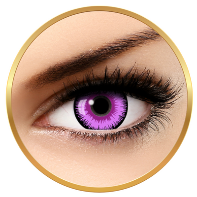 Auva Vision Fantaisie Lunatic Purple - Yearly Contact Lenese for Halloween - 365 wears (2 lenses/box)
