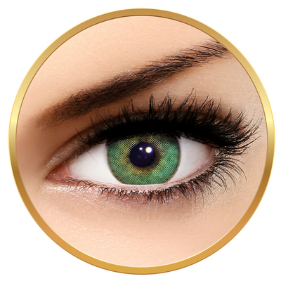 Solotica Solflex Natural Colors Esmeralda - Green Contact Lenses monthly - 30 wears (2 lenses/box)