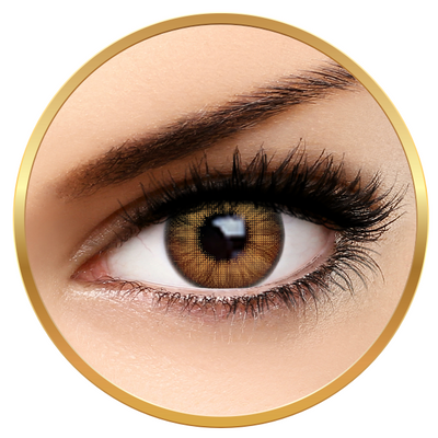 Fashion Lentilles Trendy Brown - Yearly Contact Lenses for Halloween - 365 wears (2 lenses/box)