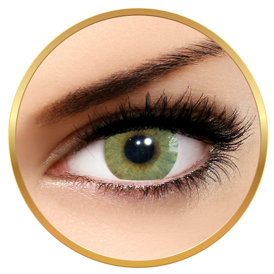 Solotica Hidrocor Mel - Green Contact Lenses yearly - 365 wears (2 lenses/box)