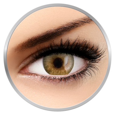 Phantasee Natural Monthly Golden Brown -Brown Contact Lenses monthly - 30 wears (2 lenses/box)