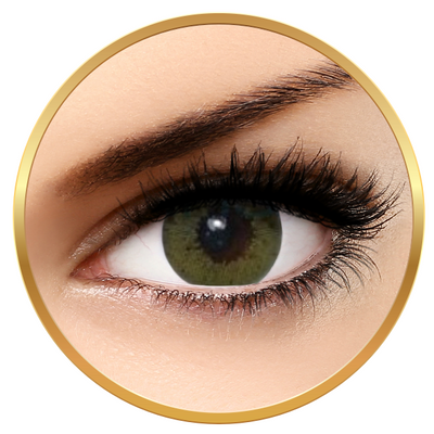 Bella Glow Collection Lime Green - Green Contact Lenses Quarterly- 90 wears (2 lenses / box)