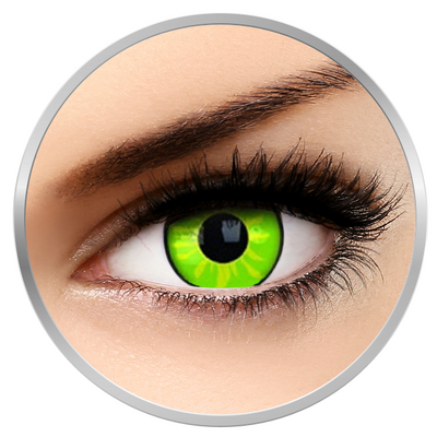 Phantasee Fancy Rogue - Green Contact Lenses yearly - 360 wears (2 lenses/box)
