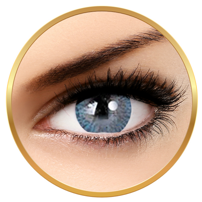 Adore Tri Tone Light Blue - colored contact lenses on a quarterly basis - 90 wears (2 lenses / box)
