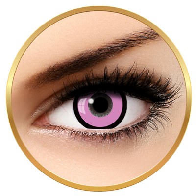 Auva Vision Fantaisie Manson Pink - Yearly Contact Lenese for Halloween - 365 wears (2 lenses/box)