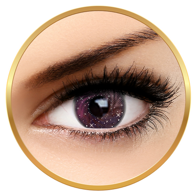 Auva Vision Fashion Lentilles Galaxy Pink - Yearly Contact Lenese for Halloween - 365 wears (2 lenses/box)