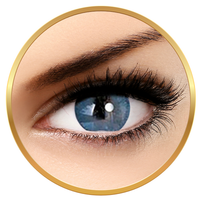 Adore Bi Tone Blue - colored contact lenses on a quarterly basis - 90 wears (2 lenses / box)