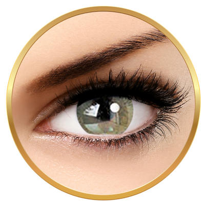 Adore Bi Tone Yellow - Colored Contact Lenses green/brown quarterly - 90 wears (2 lenses/box)