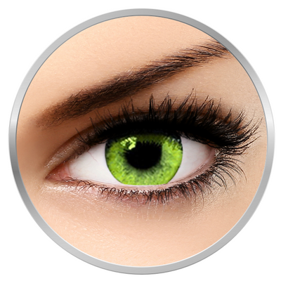 Soleko Queen's Solitaire Yellow - Green - Yellow Contact Lenses quarterly - 90 wears (2 lenses/box)