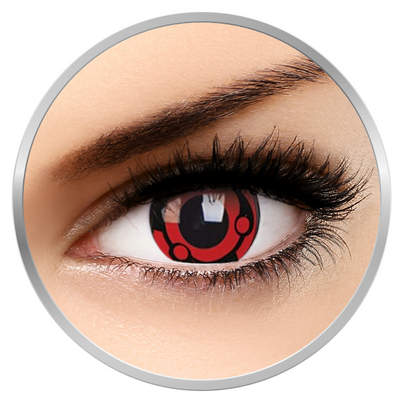 Phantasee Fancy Madara - Red/Black Contact Lenses yearly - 360 wears (2 lenses/box)