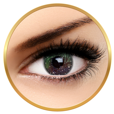 Auva Vision Fashion Lentilles Galaxy Green - Yearly Contact Lenese for Halloween - 365 wears (2 lenses/box)