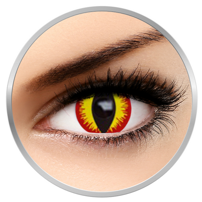 Auva Vision Fantaisie Devil -Yearly Contact Lenese for Halloween - 365 wears (2 lenses/box)