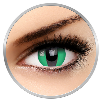 Phantasee Fancy Lizard Eye - Green/Black Colored Contact Lenses - 360 wears (2 lenses/box)