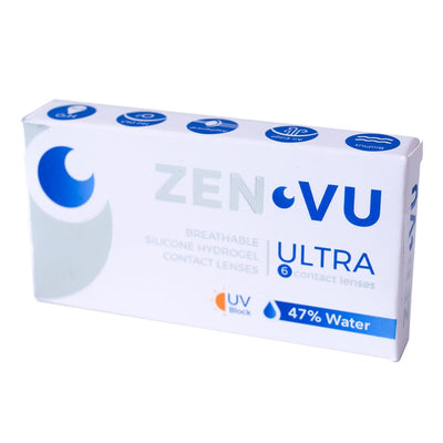 Contact Lenses ZenVu RX monthly 6 lenses/box