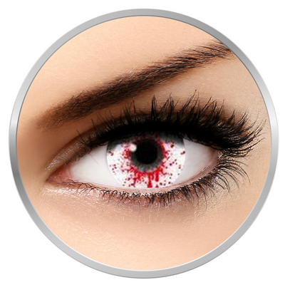 Auva Vision Fantaisie Splash Blood - Yearly Contact Lenese for Halloween - 365 wears (2 lenses/box)