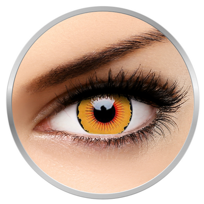 ColourVUE Crazy Solarr - Orange Contact Lenses yearly - 360 wears (2 lenses/box)