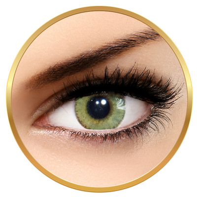 Solotica Solflex Natural Colors Mel - Green Contact Lenses monthly - 30 wears (2 lenses/box)