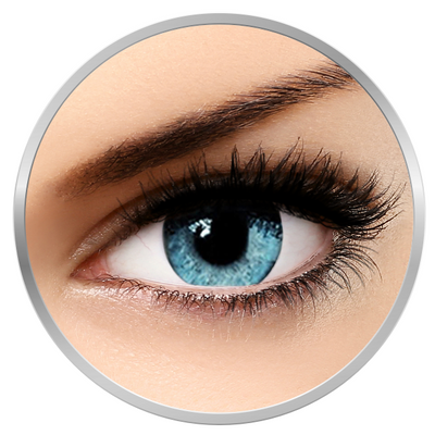 Soleko Queen's Solitaire Light Blue - Blue contact Lenses quarterly - 90 wears (2 lenses/box)
