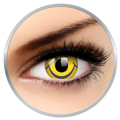 ColourVUE Crazy Smiley – Yellow Contact Lenses yearly - 360 wears (2 lenses/box)