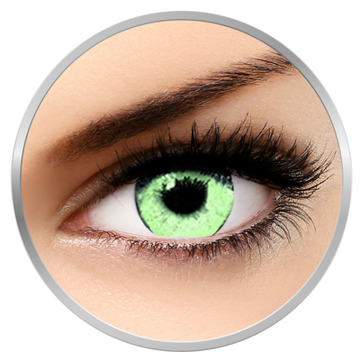 Soleko Queen's Solitaire Light Green - Green Contact Lenses quarterly - 90 wears (2 lenses/box)