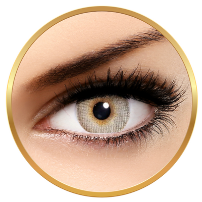 Solotica Solflex Natural Colors Cristal - Grey Contact Lenses yearly - 30 wears (2 lenses/box)