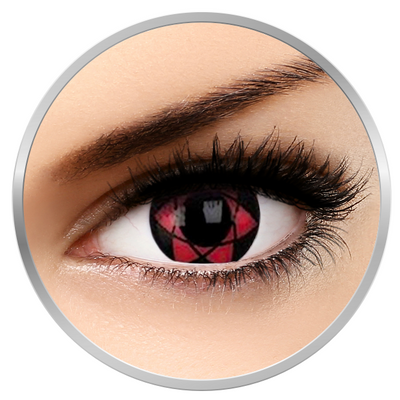 Phantasee Fancy Starfire - Red/Black Contact Lenses yearly - 360 wears (2 lenses/box)