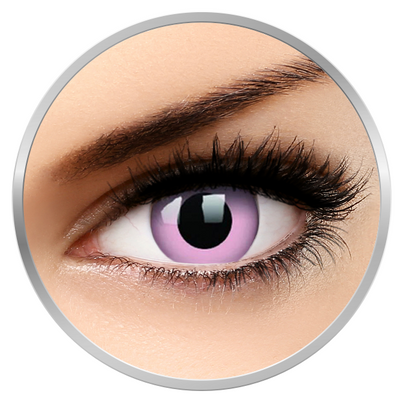 MaxVue Vision Crazy Barbie Pink - Pink Contact Lenses yearly- 360 wears (2 lenses/box)